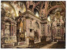 Interior of  Chiesa degli Scalzi, Venice, Italy