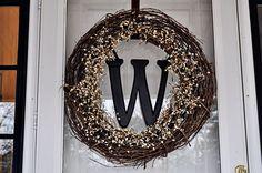Elegant statement wreath for front door