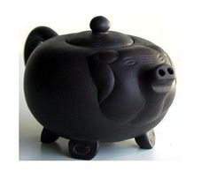 Yixing Clay Chinese Pig Teapot $28