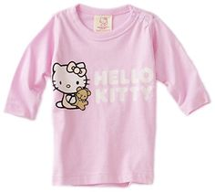 Hello Kitty Organics Babygirls Infant Tiny Chum Long Sleeve Snap Tee Pink 612 Months *** For more information, visit image link. (This is an affiliate link) #BabyGirlTops