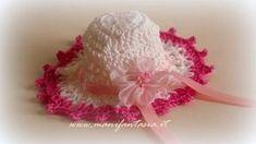 bomboniere uncinetto romantico cappellino