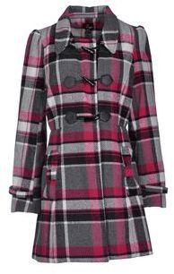 YUMI' Coats #pink #gray #plaid #coat #women #fashion #trend #trendy