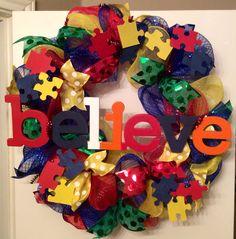 Autism Wreath....til all the pieces fit.