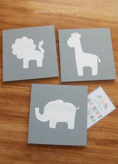 How to make nursery animal wall art #diy #nurseryart
