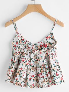 COLROVIE Floral Peplum Cami Top Women Multicolor Ditsy Print Cute Summer Tops 2017 Fashion Sexy V Neck Casual Draped Camisole ** AliExpress Affiliate's Pin. View the item in details by clicking the image Teen Fashion Outfits, Trendy Outfits, Girl Fashion, Summer Outfits, Fashion Dresses, Cute Outfits, 70s Fashion, Fashion Vintage, Vintage 70s