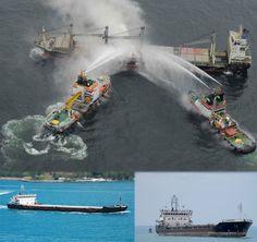 #Iran's #cargoship #Nardis caught fire in #Russia For details visit: http://cargonews.kinja.com/iran-s-cargo-ship-nardis-caught-fire-in-russia-1759342416