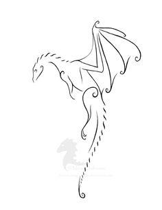 Simple dragon tattoo