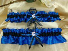 Royal Blue and Black Wedding Garter Set with Cummins by StarBridal