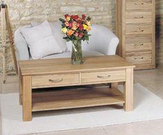 buy baumhaus mobel oak 2 drawer storage coffee table online by baumhaus furniture from cfs uk at unbeatable price