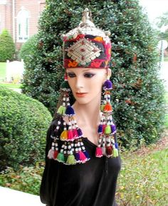 Your place to buy and sell all things handmade Bonnet Hat, Central Asia, Ethnic Fashion, Dressers, Headpieces, Storyboard, Headdress, Traditional Outfits, Caps Hats