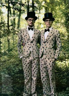 """""""Alice in Wonderland"""" Natalia Vodianova and Designers by Annie Leibovitz for Vogue December 2003"""