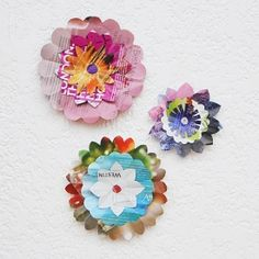 Make these paper flowers out of pages from a magazine. A fun and easy background for a party photo booth.
