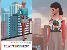[helgatisha] Recolor SLYD_OffTheShoulderShirt Download - simfileshare | thesimsresource Mesh by @theslyd Thank you! ♥ • 40 swatches • You NEED to download the mesh from @theslyd - HERE • 40...