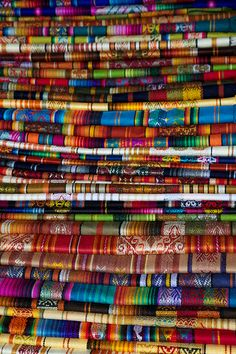 Textiles at Quito Ecuador market by Ndecam photo stream.  This photo was taken on September 20, 2011 in Quito, Pichincha, EC, using a Canon EOS 5D Mark II.