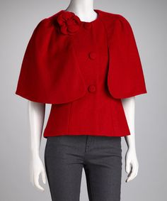 Take a look at this Red Camilla Wool-Blend Jacket by Darling on #zulily today!