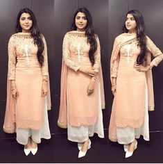 combination with dark pink colour punjabi suits Pakistani Dresses, Indian Dresses, Indian Outfits, Punjabi Suits Designer Boutique, Indian Designer Suits, Patiala Suit Designs, Kurti Designs Party Wear, Indian Attire, Indian Wear