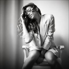 Julia Borodina B/W with blazer!