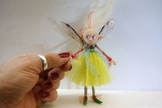 ooak poseable bright spring PIXIE fairy  20  by DinkyDarlings