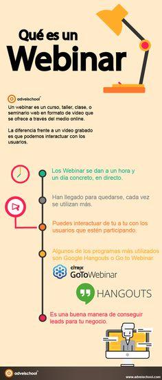 Qué es un webinar #infografia