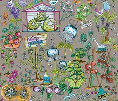 Hairy-Garden fabric by maribel on Spoonflower - custom fabric