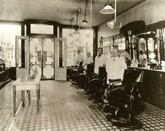 1920's - four barbers - Barbershop