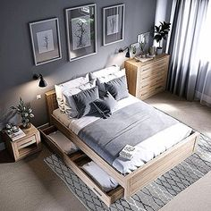 cozy grey and white bedroom ideas; bedroom ideas for small rooms; bedroom decor … cozy grey and white bedroom ideas; bedroom ideas for small rooms; bedroom decor on a budget; bedroom decor ideas color schemes Pin: 564 x 564 Budget Bedroom, Small Room Bedroom, Home Decor Bedroom, Trendy Bedroom, Diy Bedroom, Bedroom Layouts, Bedroom Simple, Gray Bedroom Furniture, Apartment Furniture