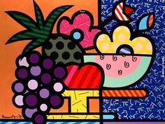 Comfortable Flannel Romero Britto Custom Zippered (Two Sides) Throw Pillow Case Pillowcase Pintura Graffiti, Graffiti Painting, Brazil Art, Tableau Design, Arte Country, Throw Pillow Cases, Art Plastique, Art Lessons, Home Art