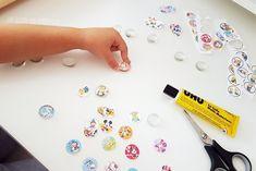 Magnete aus Glasnuggets selber machen Magnets, Cards, Sunday School, Atelier, Egg Box Craft, Christmas Bazaar Ideas, Kids Magnets, Glass Magnets, Maps