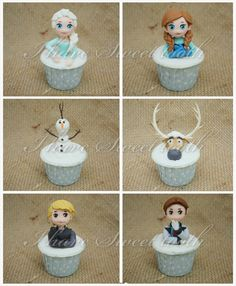 I Have Sweet Tooth: Frozen Theme Cupcakes