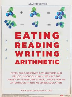eating reading writing arithmetic hickory