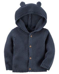 Baby Boy Hooded Cardigan | Carters.com
