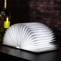 Creative Folding Book Light & Novelty Lamp 2500mAh Battery 200 Lumens Up To 4 Hours Usage Eco Friend