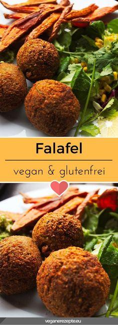 Ein Traum aus Kichererbsen! Ich könnte diese knusprigen Falafel fast täglich essen. Viel leckerer als der Kram aus dem Supermarkt. #falafel #vegan #glutenfrei #rezept #veganfood #vegetarisch