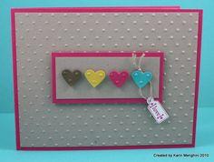 Hearts cut with scrapbooking heart cutter