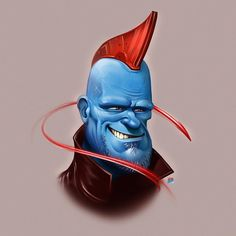 regram @brunojacob Fan art of Marvel's #Yondu - with the awesome actor Michael Rooker.