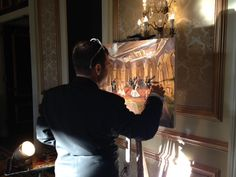 Live painting at the Bourbon Orleans Hotel's Orleans Ballroom. www.bourbonorleans.com