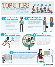 Top 5 Tips to Get Your Employment Background Checks Right [Infographic] Hiring a great job candidate is not a simple task.  It takes meticulous planning, focus and consideration, the caliber of judgment that comes from years of experience, and a passion for the job.