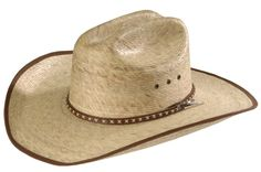 9def85be5f833 Resistol Brush Hog Mexican Palm Straw Cowboy Hat available at  Sheplers  Resistol Cowboy Hats