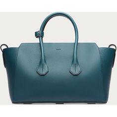Bally SOMMET MEDIUM Women´s medium leather tote bag in Teal Women´s... ($1,795)… #womenhandbags