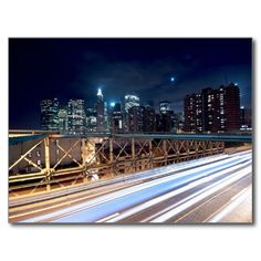 USA - New York - Blue Night Carte Postale