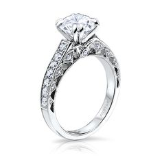 Scott Kay Heaven's Gates Collection Engagement Ring Semi Mount