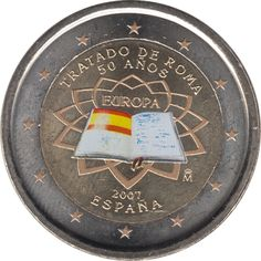 España  2007 2 € euros conmemorativos 50º Aniversario Tratado de Roma Color