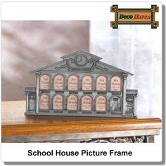 School House Picture Frame - School house picture frame displays your childs school days from grades K-12.
