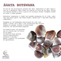 Aprendemos sobre el ágata de Botswana. Copyright: maribolabygloria.com