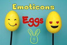 DIY Emoji Eggs - Uova di Polistirolo