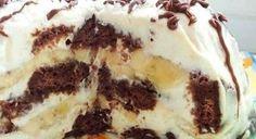 Čokoládově banánová nepečený dort | Báječné recepty