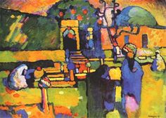Arabs I (Cemetery), 1909 Wassily Kandinsky