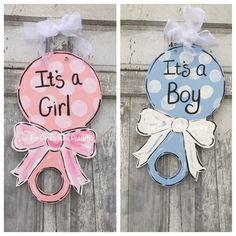 New Baby door hanger Baby Hospital door hanger It's a