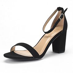 a179bb4415 DREAM PAIRS Women's Chunk Black Suede Low Heel Pump Sandals - 10 M US # fashion