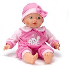 Vêtements pour poupée de 46 cm : Pyjama Rose avec motif cheval Calinou - Magasin de Jouets pour Enfants.